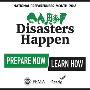 National Preparedness Month - Sept 2018