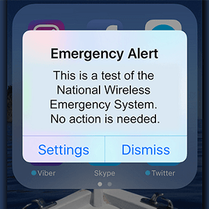 Emergency Alert Test