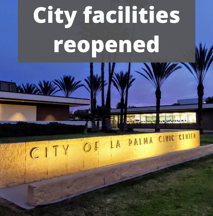 Facilities Reopening - June 8, 2020